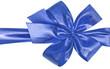 ruban bleu emballage paquet cadeau