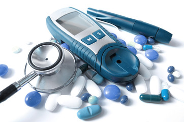 Device for measuring blood sugar level and pills