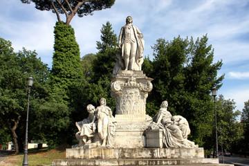 Goethe statue at Villa Borghese in Rome