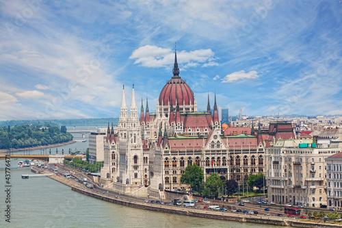 Poster Hungary, Budapest, view of Sacred Stephane's basilica