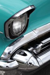 close up of a fifties Chevrolet