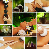 Fototapety spa collage