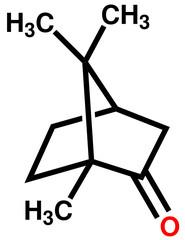 Camphor structural formula