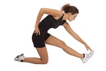 Schlanke Frau beim Workout