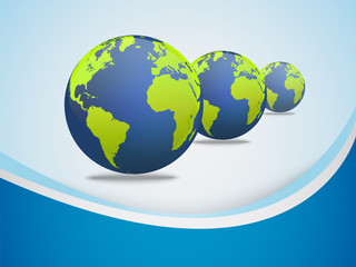 Abstract background with earth globe