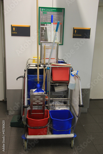 Cleaning equipment trolley