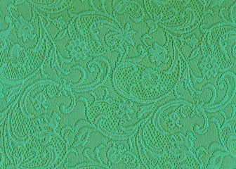 Texture dentelle vert jade.