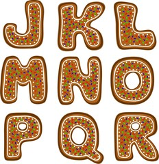 gingerbread alphabet 2