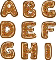 gingerbread alphabet 1