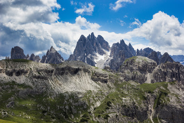 Peaks of the Dolomites of Veneto, Italy.