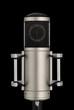 Elegantes Studiomikrofon auf schwarz