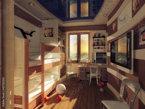 the interior of children's rooms