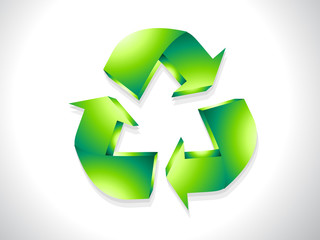 abstract glossy recycle icon