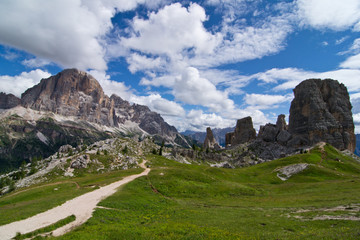 Dolomites, peaks of the five towers