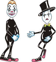 Two funny mimes
