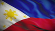 Highly detailed flag of the Philippines Looped