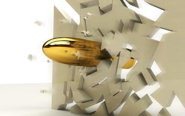 proiettile 3D penetrante muro