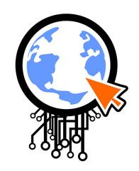 Tech world cursor