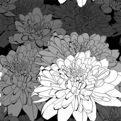 Seamless pattern with a lot of flowers