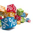 Rabattaktion - Würfel mit Prozenten