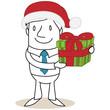 Geschäftsmann, Nikolausmütze, Weihnachtsgeschenk