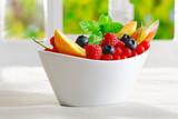 Exotic tropical fruit dessert