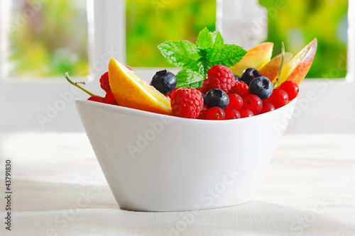 Exotic tropical fruit dessert