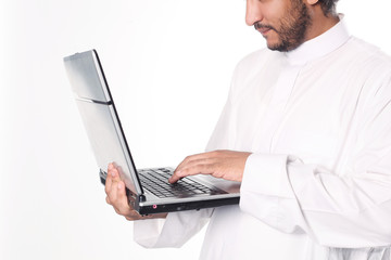 Arab businessman working