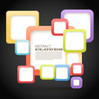 Abstract Background of color boxes with blank area for any conte