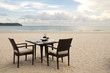 Dining table on beach