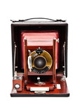Vintage Korona plate camera with  folding leather bellows.
