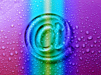 abstract E-mail on liquid bubbles for website .