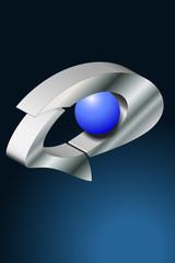logo Auge blau