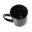 Black cup isolated