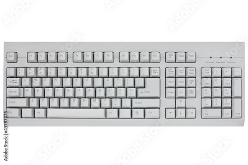computer keyboard isolated on a white