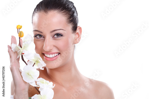 Beauty girl with orchid