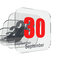 September 30 - month end - last day