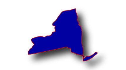 State of New York map reveals from the USA map silhouette