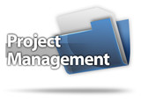 "3D Style Folder Icon ""Project Management"""