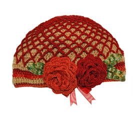 Women's knitted hat handmade