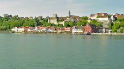 Altstadt Meersburg am Bodensee vom Schiff aus