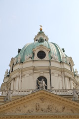 dome of the church of st.charles