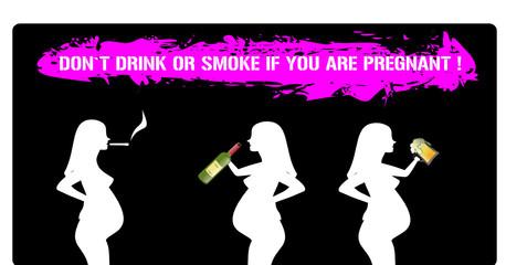 rauchende und trinkende mütter