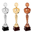 Trophies,  cups - gold, silver, brown