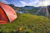 Camping in der Hardangervidda in Norwegen