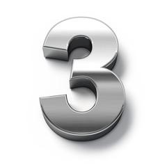 3d Metal numbers - number 3.