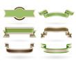 Set of retro Eco ribbons.