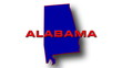 State of Alabama map reveals from the USA map silhouette