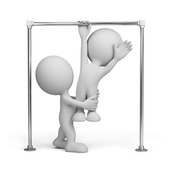 3D person on a horizontal bar