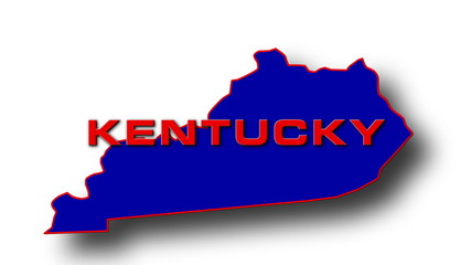 State of Kentucky map reveals from the USA map silhouette